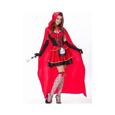 Halloween Little Red Hat Cosplay Outfit Women Role Play Sleeveless... ($31) ❤ liked on Polyvore featuring costumes, as picture, lady costumes, sexy womens halloween costumes, sexy halloween costumes, ladies halloween costumes and sexy women costumes