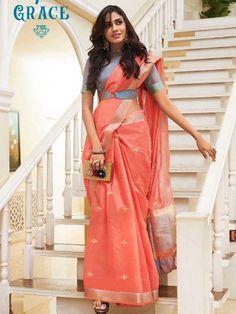 Blouse Back Neck Designs, Silk Saree Blouse Designs, Fancy Blouse Designs, Blouse For Silk Saree, Saree Dress, Saree Belt, Saree With Belt, Chiffon Saree, Wedding Silk Saree