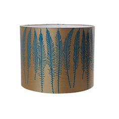 Clarissa Hulse Deer Fern Drum Lampshade via House Beautiful British Edition April 2013 Copper Pendant Lights, Copper Lighting, Modern Lamp Shades, Light Shades, House Beautiful, Beautiful Homes, Deer Fern, Standard Lamps, Ceiling Lighting