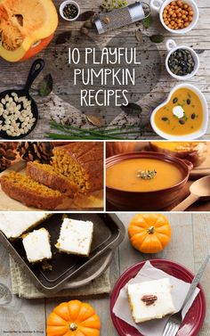 Fall Comfort Foods: 10+ Playful Pumpkin Recipes to Warm Your Family 's Heart *saving this list of autumn recipes for later