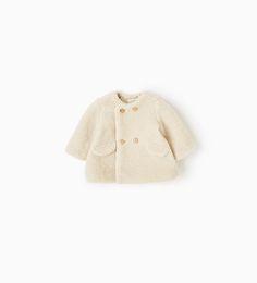Image 1 of Fleece coat from Zara