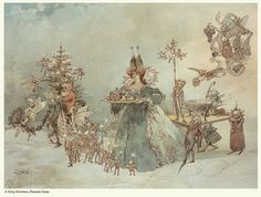 """A Fairy CHristmas,"" ~ by A. Duncan Carse (English, 1876-1938)"