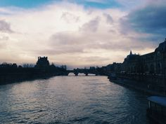 Paris, view on Louvre and Seine