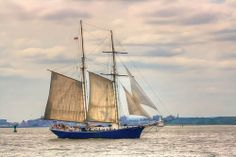 Sail Boat passing by red hook