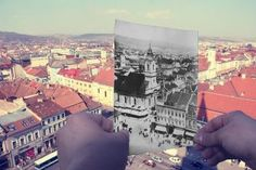 Cluj...then...and now Romania, Polaroid Film