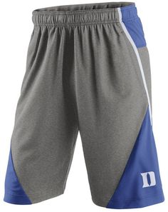 """These colorful three-toned Nike men's NCAA Fly XL 4.0 shorts let you support the Duke Blue Devils as you move freely. With an elastic waist and loosely-fitting long legs, these durable, machine washable Nike shorts show off your sporty side. Elastic waistband with drawstring Side pockets Screen print team logo at left leg Screen print brand logo at back right leg Regular fit Approximate inseam 10"""" Polyester Machine washable"""