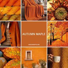 цвет осень зима 2017 2018 pantone коричневый охра оранжевый Autumn Maple color - fall winter