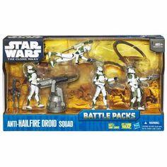 Star Wars The Clone Wars Battle Packs, Anti-Hailfire Droid Squad, Multicolor Star Wars Set, Star Wars Toys, Star Wars Clone Wars, Power Rangers, Die Games, Funko Pop Toys, Battle Games, Star Wars Images, Star Wars Action Figures