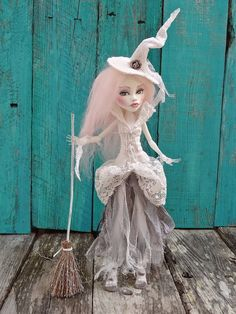Ghost Witch -  Monster High Spectra doll repaint - by Marina OOAK