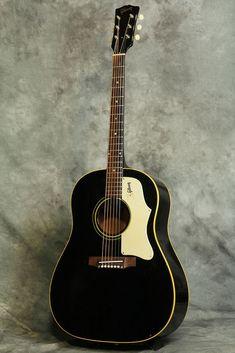 Gibson 1968 J-45 Original Ebony Finish, Vintage Acoustic Guitar, f8306