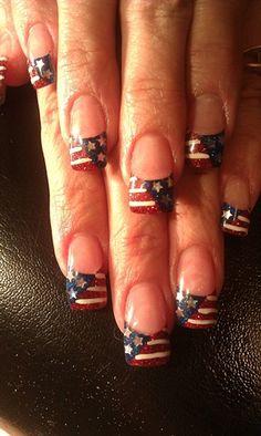 Proud American by cindygnails - Nail Art Gallery nailartgallery.nailsmag.com by Nails Magazine www.nailsmag.com #nailart