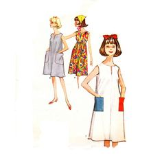 Tent Dress Pattern / 1960s Vintage Sewing by TheVintageDesignShop, $12.00