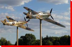 Spitfire and Hurricane at Jackson Park....Windsor Ontario