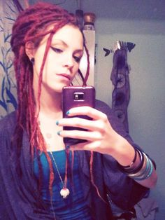 dreads..but this is what I'm doing when I finally get completely gray...gives me something to totally look forward to!!!!