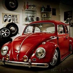 Everyone loves a classic bug in red! #Custom #Classic #Style #Design #Beauty