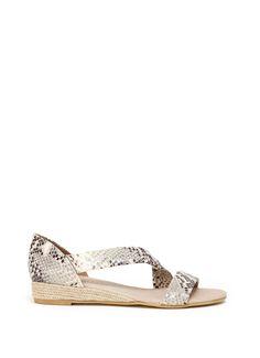 Snake Ella Wedge Sandal | Shoes | MintVelvet