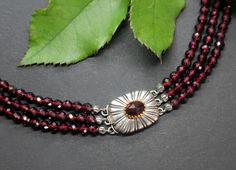 Trachtenschmuck Granatcollier Ophelia - Schmuck Steiner Elegant, Beaded Necklace, Jewelry, Fashion, Necklaces, String Of Pearls, Rhinestones, Neck Chain, Handmade