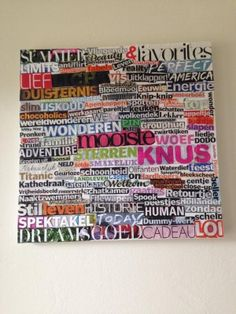 Some old magazines cut out nice words and stick them on - The world's most private search engine Diy Framed Wall Art, Class Art Projects, Old Magazines, Craft Corner, Small Art, Diy Canvas, Magazine Art, Diy For Kids, Creative Art