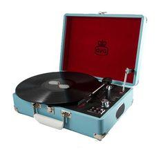 GPO Attaché Record Player – Blue