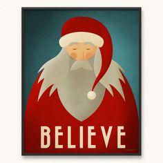Minimalist Santa poster.