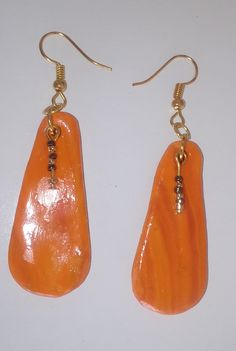 "#Ohrringe ""madera naranja"" #Ohrschmuck #Schmuck  #Pendientes ""madera naranja"" #aretes #joya  #Earrings ""madera naranja"" #jewellery Jewelry Shop, Handmade Jewelry, Jewelry Design, Bikini Images, Jewelry Findings, Drop Earrings, Art Gallery, Colours, Sun"
