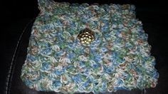 Crocheted hand clutch by OldLadyPastimes on Etsy