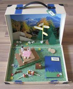 Geschenkkoffer Koffer Gutscheinverpackung Gutschein Wandern Berge Reise