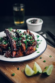 sweet + sticky pork ribs.