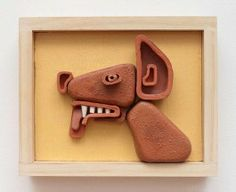 Steve Keister - Dog #ceramic 8 3/4 x 10 7/8 inches available at Mozumbo Contemporary Art. www.mozumbo.com