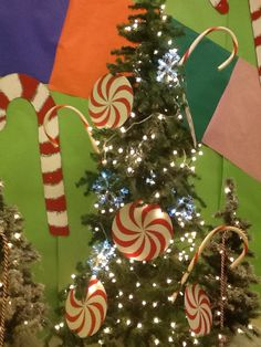 Candy Land Hall Decorations Hall Decorations, Christmas Decorations, Christmas Tree, Holiday Decor, Trunk Or Treat, Student Council, Candy Land, Preschool, Santa