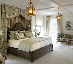 There are so many options for window treatments these days. From valances to Roman shades, from linen to silk, window possibilities really are endless. Master Suite, Master Bedroom, Monday Inspiration, Circa Lighting, Side Window, Top Interior Designers, Visual Comfort, Eclectic Style, Window Treatments