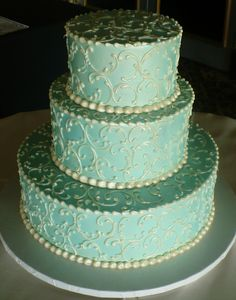 mint and PASTEL purple wedding   Fenoglietto's Wedding Cakes  WANT THIS IN MINT AND LAVENDER COLORS!!