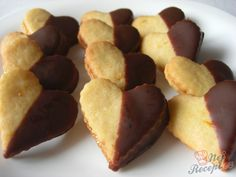 Pomerančová srdíčka | NejRecept.cz Baking Recipes, Cookie Recipes, Snack Recipes, Snacks, German Baking, Eid, Christmas Cookies, Biscuits, Sweet Tooth