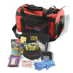Be prepared when a disaster strikes.  Make sure your kitty has the essentials with this Ready America Cat Evacuation Kit.