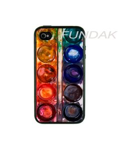 After surviving color theory, I feel this would be a wonderful phone case.   Iphone 4 Case Iphone Case Water Color Pallete by fundakcases. $16.00, via Etsy.