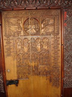 Armenia - Sevan Monastery. The church door.