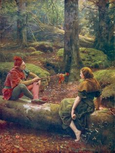 """""""In the Forest of Arden"""",1892, by John Collier (English, 1850-1934)"""