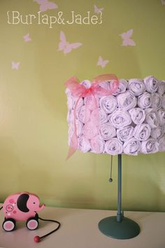 Making these DIY lamp shades today for my little girls room!