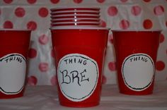 Hey, I found this really awesome Etsy listing at https://www.etsy.com/listing/190305786/dr-seuss-party-cups-thing-1-thing-2