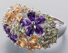 Ö.768 Ring 925er Silber rhodiniert Multi-Edelstein 1,38ct RW17 UVP:129,98€ de.picclick.com
