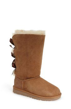UGG Australia - Genuine Sheepskin Bailey Bow Tall Classic Boot (Little Kid & Big Kid)