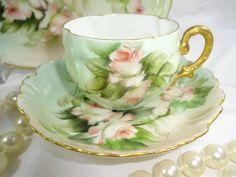 Antique French Limoges Child's Tea Set Hand Painted Signed Ester Miler