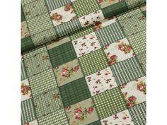 Bavlněné plátno GREEN zelený patchwork, (látka v metráži) Quilts, Blanket, Bed, Green, Home, Scrappy Quilts, Comforters, Stream Bed, House