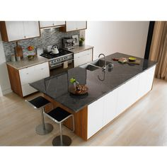 Shop Formica Brand Laminate 30 In X 96 In Ferro Grafite Gloss Laminate Kitchen