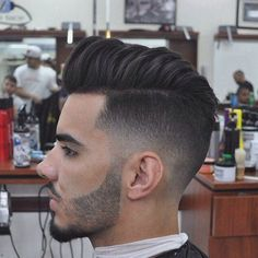 Mens Fade Haircut Pictures - People often appear beautiful because their beauty depicts their lifestyle and is usually the r Tapered Haircut, Haircut Men, Mens Hairstyles Fade, Side Swept Hairstyles, Hairstyles Haircuts, Fashion Hairstyles, Latest Hairstyles, Barber Haircut Styles, Hair Styles