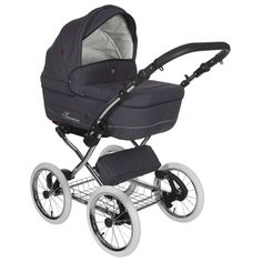 Kinderwagen Tutek Turran Silver Blue Jeans (incl. autostoel)