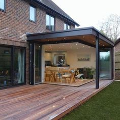 35 Fabulous House Extension Ideas For Your Extra Room - Beleuchtung Home Design, Deck Design, Design Ideas, House Landscape, Garden Landscape Design, Landscaping Design, Garden Landscaping, Pergola Plans, Pergola Kits