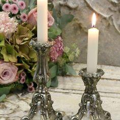Fransk Stil Gamla Ljusstakar Antiquesilver - Large - inkommer i slutet av augusti