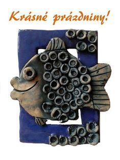 Pro Šíšu: Prazdniny Clay Fish, Ceramic Fish, Ceramic Art, Ceramics Projects, Clay Projects, Projects For Kids, Kids Clay, Little Fish, Fish Design