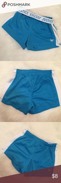 Justice Athletic Mesh Shorts (8) Blue Justice Athletic Shorts. Size 8. NWOT. Never worn. Perfect condition. No flaws. Justice Bottoms Shorts